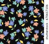 flower illustration pattern | Shutterstock .eps vector #670617106
