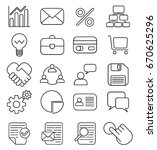 16 business icons vector | Shutterstock .eps vector #670625296