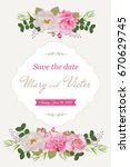 wedding invitation cards with... | Shutterstock .eps vector #670629745