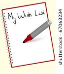 Wish  List Written At The Red...