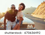 portrait of young couple...   Shutterstock . vector #670636492