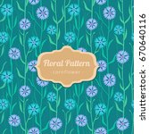 floral vector pattern. seamless ... | Shutterstock .eps vector #670640116