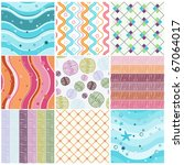 Vector Set Of Nine Colorful...