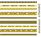 black and yellow police stripe. ... | Shutterstock .eps vector #670643842