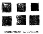 grunge post stamps collection ... | Shutterstock .eps vector #670648825