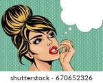 pop art vintage comic style... | Shutterstock .eps vector #670652326