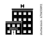 hospital icon | Shutterstock .eps vector #670653892