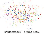 bright colorful confetti... | Shutterstock . vector #670657252
