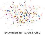 bright colorful confetti... | Shutterstock . vector #670657252