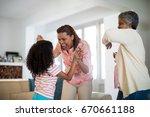 happy family having fun in... | Shutterstock . vector #670661188