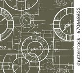 blueprints. mechanical... | Shutterstock .eps vector #670668622