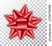 red bow ribbon decor element... | Shutterstock .eps vector #670670098
