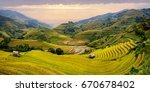 mu cang chai  landscape... | Shutterstock . vector #670678402