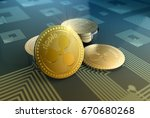 crypto currency ripple in... | Shutterstock . vector #670680268