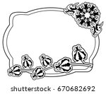 black and white frame with...   Shutterstock .eps vector #670682692