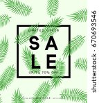 summer sale banner. poster... | Shutterstock .eps vector #670693546