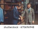 man at work in atelier | Shutterstock . vector #670696948