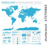 world map and info graphic... | Shutterstock .eps vector #670704865