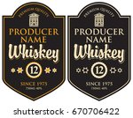 vector set of two labels for... | Shutterstock .eps vector #670706422