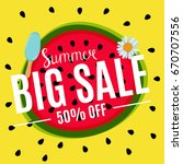 summer sale abstract banner... | Shutterstock .eps vector #670707556