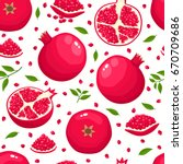 vector seamless pattern with... | Shutterstock .eps vector #670709686