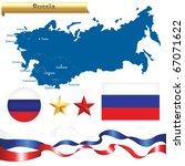 russian federation set  russia...   Shutterstock .eps vector #67071622