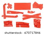 red duct repair tape isolated... | Shutterstock . vector #670717846