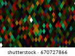 dark multicolor  rainbow vector ... | Shutterstock .eps vector #670727866