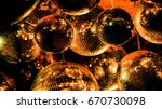 group of  colorful disco balls  | Shutterstock . vector #670730098