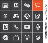 media communications icons set... | Shutterstock .eps vector #670742872