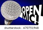 Open Mic Microphone Mike Night...