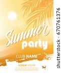 summer party poster with hand... | Shutterstock .eps vector #670761376