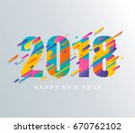 modern creative happy new year... | Shutterstock .eps vector #670762102
