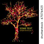 concept with red tree and text | Shutterstock .eps vector #67076425