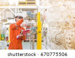 technician operator checking... | Shutterstock . vector #670775506