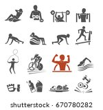 power body icon concept. gym... | Shutterstock .eps vector #670780282