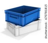 3d stack of empty plastic... | Shutterstock . vector #670781815