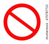 not allowed sign  stop icon... | Shutterstock .eps vector #670787722
