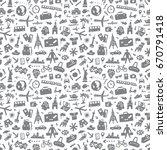 travel   seamless background | Shutterstock .eps vector #670791418