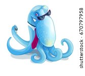 Octopus In The Tie And Glasses...