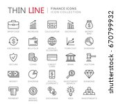 collection of finance thin line