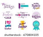 vector illustration of happy... | Shutterstock .eps vector #670804105