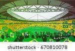 soccer stadium | Shutterstock .eps vector #670810078