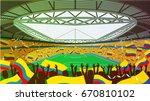 soccer stadium | Shutterstock .eps vector #670810102