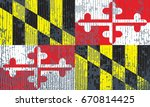 the flag of maryland | Shutterstock . vector #670814425
