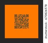 qr icon vector. flat simple... | Shutterstock .eps vector #670826578