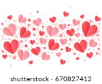 valentines day pink and red... | Shutterstock . vector #670827412