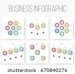 set with infographics. data and ... | Shutterstock .eps vector #670840276