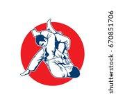 martial arts logo   Shutterstock .eps vector #670851706