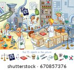 pharmaceutical factory. find 15 ... | Shutterstock .eps vector #670857376